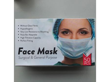 KIWI FACE MASK 3PLY 50 masks