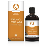 Kiwiherb Childrens Throat Syrup 100ml