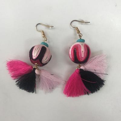 Kizomba Twist Tassel Earring - Carnival Mix