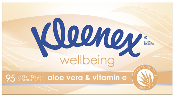 Kleenex Aloe Vera & Vitamin E Facial Tissues 95 Pack