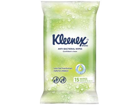 Kleenex Anti-bacterial Wipes, 15 Wipes