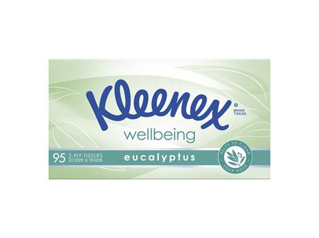 Kleenex Eucalyptus Facial Tissues 95 Pack