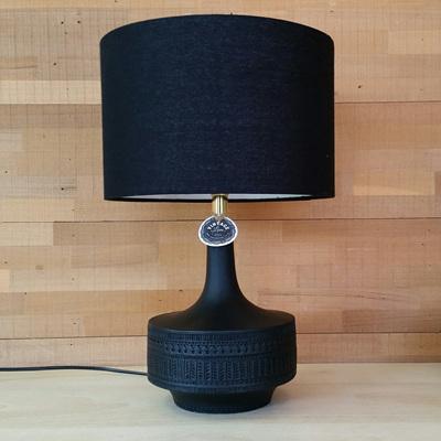 Krona Resin Lamp - Black Shade - 47cmh