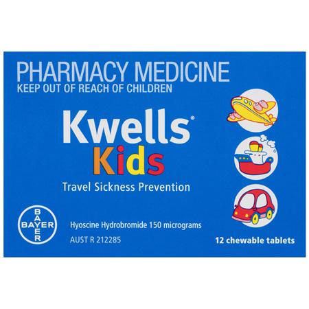 Kwells Kids Travel Sickness 12 Chewable Tablets