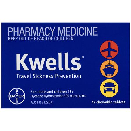 Kwells Travel Sickness 12 Chewable Tablets