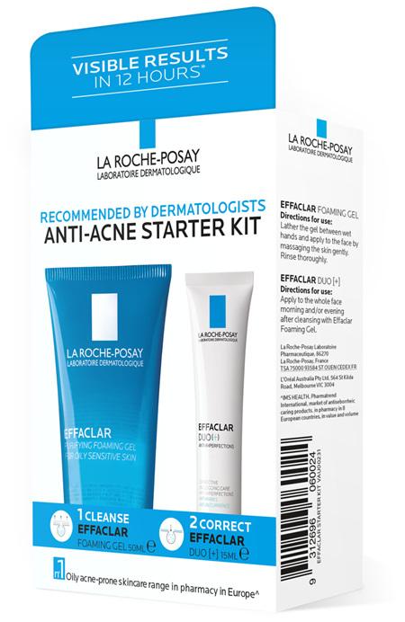 La Roche-Posay® Effaclar Anti-Acne Skincare Starter Kit - Cleanser & Moisturiser