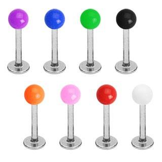 Labret w/ Solid Color UV Balls 16g