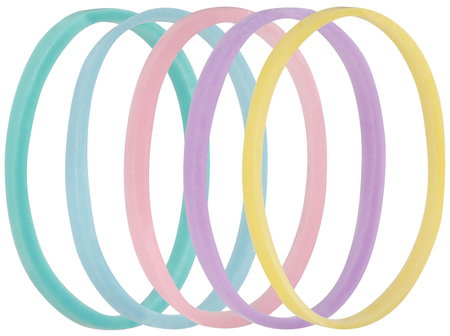 Lady Jayne Pastel Snagless Small Elastomer Elastics - Pk 50
