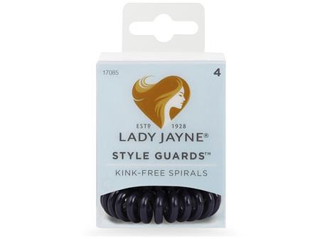 Lady Jayne Style Guards Blue Spiral Elastics - 4 Pk