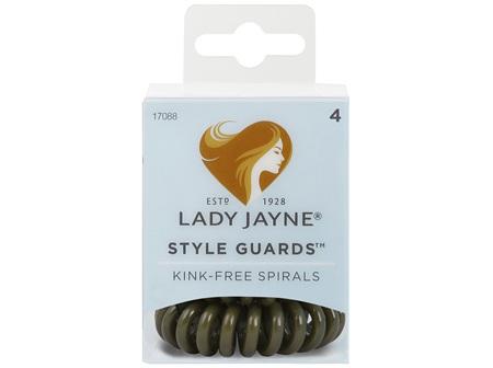Lady Jayne Style Guards Green Spiral Elastics - 4 Pk