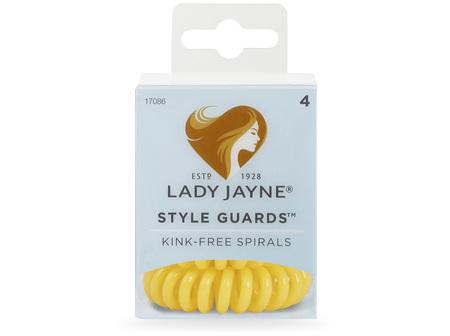 Lady Jayne Style Guards Yellow Spiral Elastics - 4 Pk