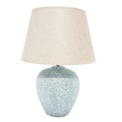 Lana Ceramic Lamp - Soft Blue