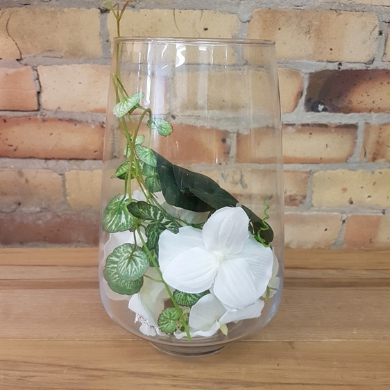 Large Clear Vase Dapper And Co