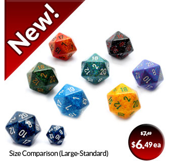Large D20's Twenty Sided Dice Games and Hobbies Chessex New Zealand NZ