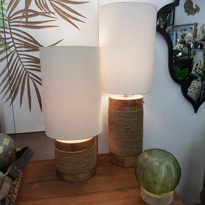 Lata Wooden Based Table Lamp