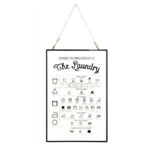Laundry Rules Glass Print