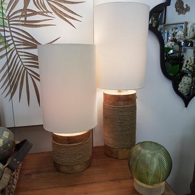 Lavanya Wooden Based Table Lamp