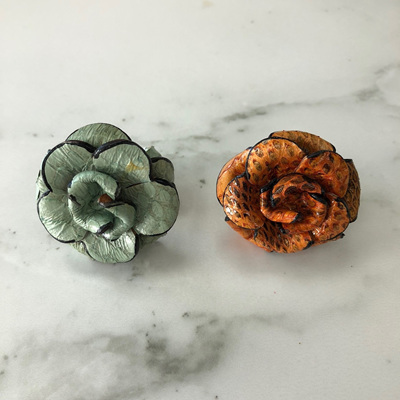 Leather Rose Ring