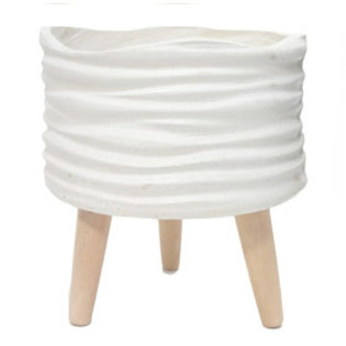 Leila Fibre Clay Planter - Cream