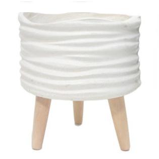 Leila Fibre Clay Planter - Cream