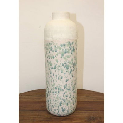 Leilani Ceramic Vase - Blue Speckle - Large