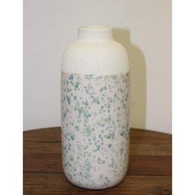Leilani Ceramic Vase - Blue Speckle - Small