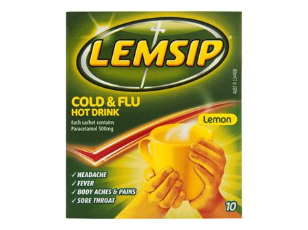 Lemsip Original Cold & Flu Hot Drink 10 Pack