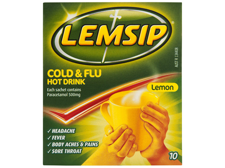 Lemsip Original Cold & Flu Hot Drink 10 Pack
