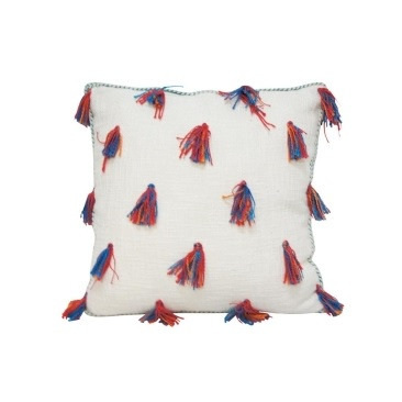 Leni Cushion - Red & Turquoise 45x45cm