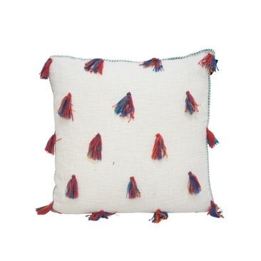 Leni Cushion - Red & Turquoise 55x55cm