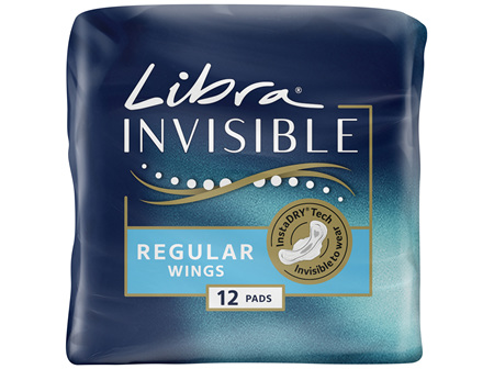 Libra Invisible Pads Regular with Wings 12 pack