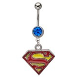 Licensed Superman Dangle Navel