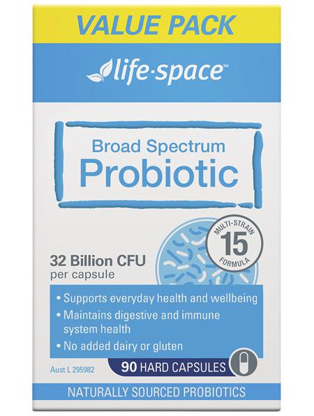 Life-Space Broad Spectrum Probiotic Value Pack 90 Hard Capsules