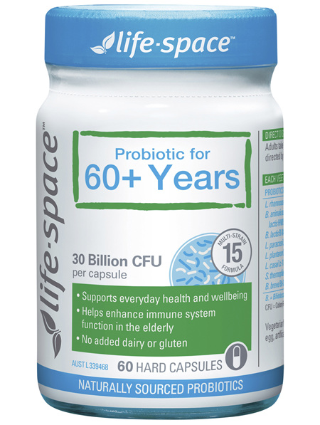 Life-Space Probiotic for 60+ Years 60 Hard Capsules