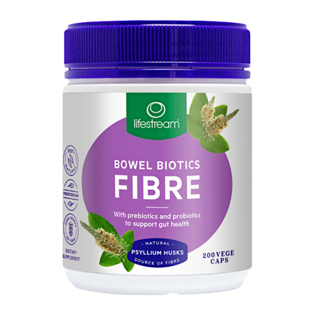 LIFESTREAM Bowel Biotics Fibre 200caps