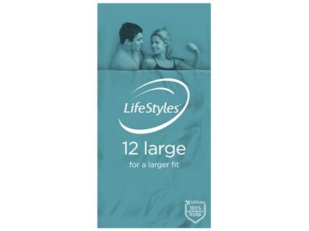 LifeStyles Large Condoms 12 Pack