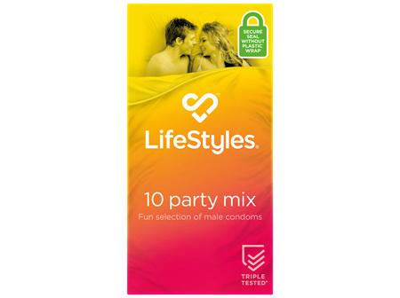 LifeStyles Party Mix Condoms 10 Pack