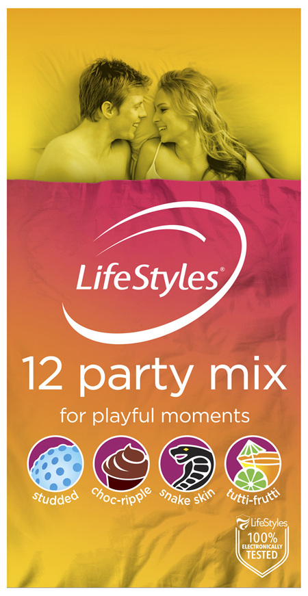 LifeStyles Party Mix Condoms 12 Pack