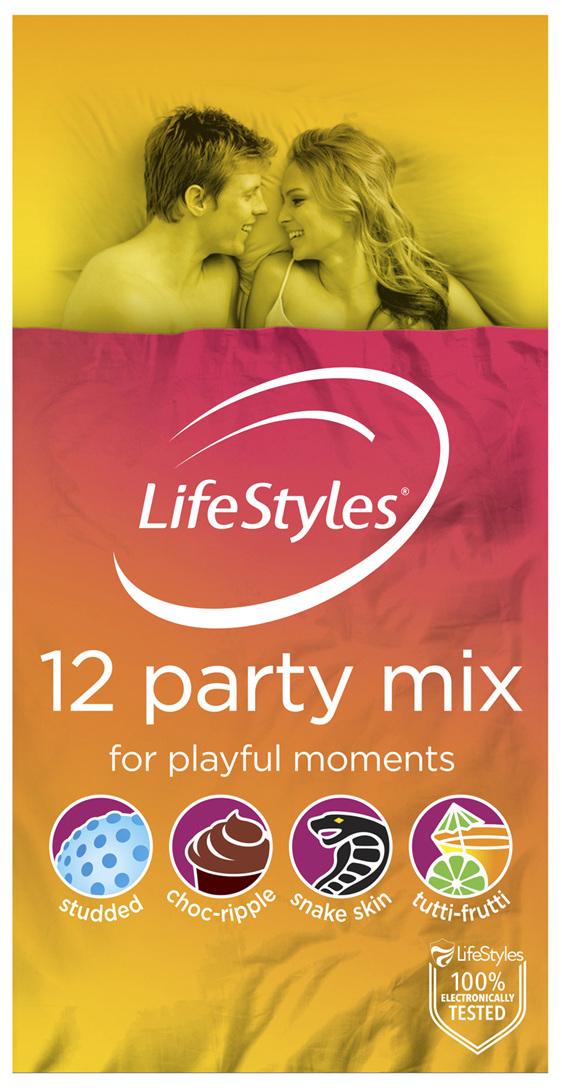 LifeStyles Party Mix Condoms 12 Pack