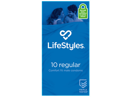 LifeStyles Regular Condoms 10 Pack