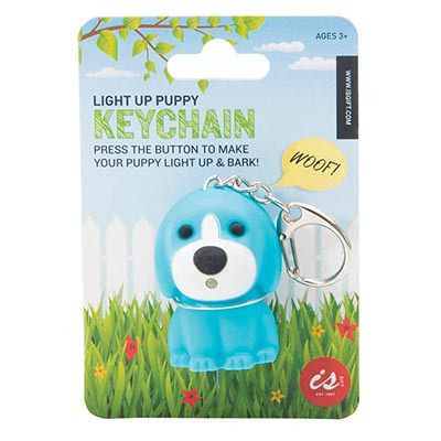 Light Up Barking Puppy Keychain