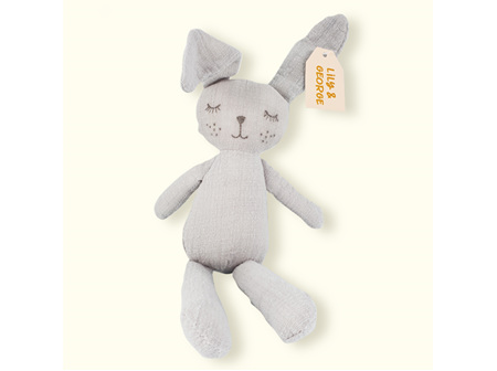 "Lily & George ""Grey"" the bunny toy"