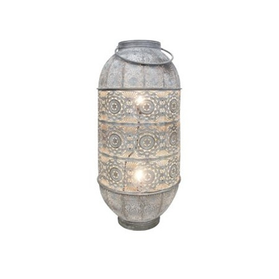 Lily Metal Lamp - White Wash 78cmh
