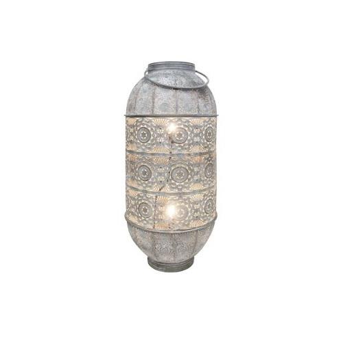 Lily Metal Lamp - White Wash 78cmh