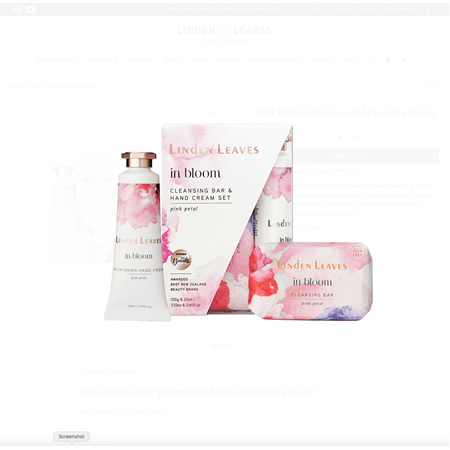 Linden Leaves in bloom cleansing bar and hand cream set