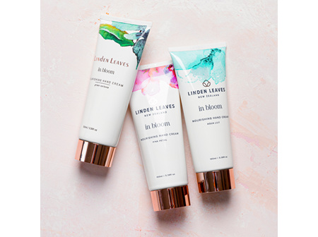 Linden Leaves in bloom nourishing hand cream selection
