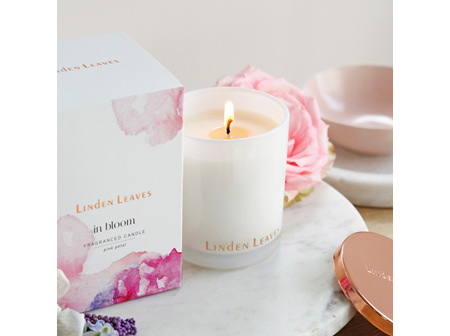 Linden Leaves In Bloom Soy Candle - Pink Petal