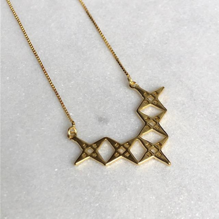 LINDI KINGI ALIGNMENT NECKLACE GOLD