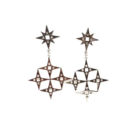 LINDI KINGI CONSTELLATION EARRINGS PLATINUM