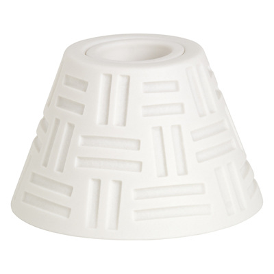 Lined Candle Holder Porcelain White - WAS $21.90